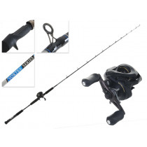 Shimano Caius 150A Low Profile Baitcaster and Vortex 2017 Inshore Jig Combo 6ft 6in 6-10kg 1pc