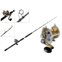 Shimano Talica 20 II 2-Speed and T-Curve Ocea Switchbait Jigging Combo 6ft 3in 24-37kg 1pc