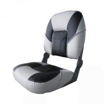 Deluxe Premier Fold Down Boat Seat Grey/Grey/Black
