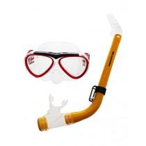 Aropec Kids Silicone Mask and Semi-Dry Snorkel Set