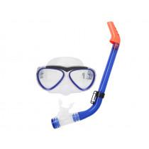 Aropec Kids Silicone Mask and Semi-Dry Snorkel Set Transparent Blue