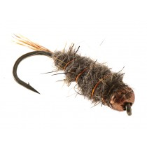 Black Magic Copperbead Hare and Copper Trout Fly