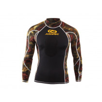 Aropec Spearo Camouflage Mens Rash Guard