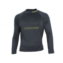 Maddog Mens Long Sleeve Rash Top Black XXL