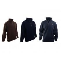 Swanndri Mens Mariner Wool Zip Neck Jersey