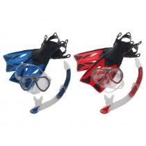 Mirage Crystal Junior Mask Snorkel and Fins Set Blue