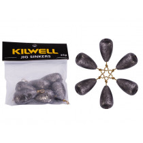 Kilwell Tear Drop Swivel Sinkers Pack 1 1/4 oz 35g Qty 6
