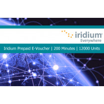Iridium Pre-Paid E-Voucher 200 Minutes or 12000 Units 6 Month Validity