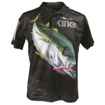 Mad About Fishing Kingfish Polo Shirt Small