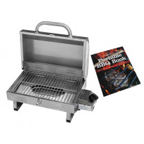 Kiwi Sizzler Stainless Steel Single Burner BBQ with Recipe Book