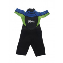 Maddog Neoprene Boys Shorty Wetsuit 3mm Green Blue Black Size 12