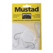 Mustad Penetrator 2-Hook Snapper Rig 6/0 Qty 3