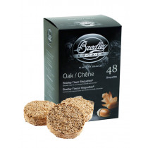 Bradley Smoker Flavoured Bisquettes 48 Pack - Oak