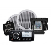Fusion MS-RA205 Marine Stereo UNIDOCK Package with Bluetooth and 6in Speakers