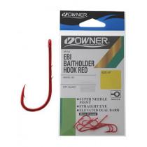 Owner Ebi Baitholder Hooks Red Finish