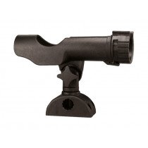Adjustable Plastic Rod Holder Black
