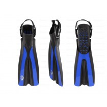 Sea Harvester Open Heel Dive Fins Blue Large to XL