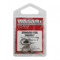 Wasabi Tackle Stainless Steel Game Shackles Qty 2
