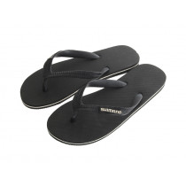 Shimano Black Jandals with White Logo
