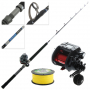 Shimano DDM Plays 4000 Vortex Deepwater Electric Combo with Braid 5ft 7in 15-24kg 1pc
