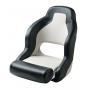 V-Quipment Pilot Sports Helm Seat with Flip Up Squab Black/White