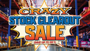 Crazy Stock Clearout Sale