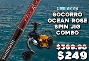 Shimano Socorro 10000 SW and Ocean Rose Spin Jigging Combo 5' 2'' 50lb 1pc