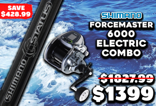 Shimano Dendou-Maru Forcemaster 6000 Electric Combo 5'2'' 2pc incl Free Braid