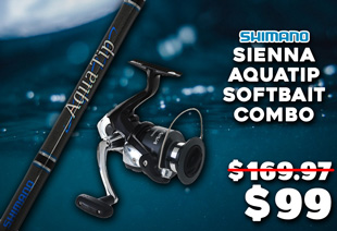 Shimano Sienna 4000 FE and Aquatip Softbait Combo 7ft 3in 6-8kg 2pc