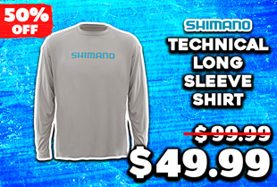 Shimano Technical Long Sleeve Shirt Athletic Grey