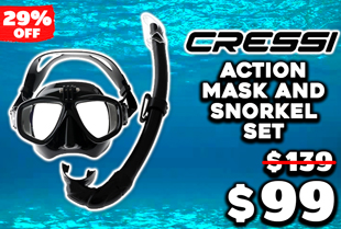 Cressi Action Mask and Snorkel Set with GoPro Mount