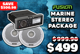 Fusion MS-UD650 Marine Stereo Package with 6'' Speakers