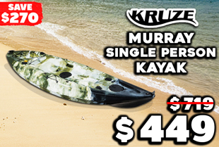Kruze Murray Single Person Kayak with 4 Rod Holders