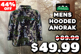 Ridgeline Mens Hooded Anorak Buffalo Camo