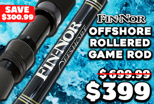 Fin-Nor Offshore FNSU80 Full AFTCO Rollered Game Rod 5ft 7in 24kg 1pc