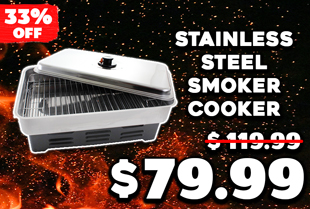Stainless Steel Smoker Cooker with 2 Burners