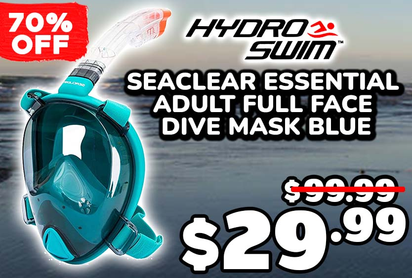 Hydro-Swim SeaClear Essential Adult Full Face Dive Mask Blue